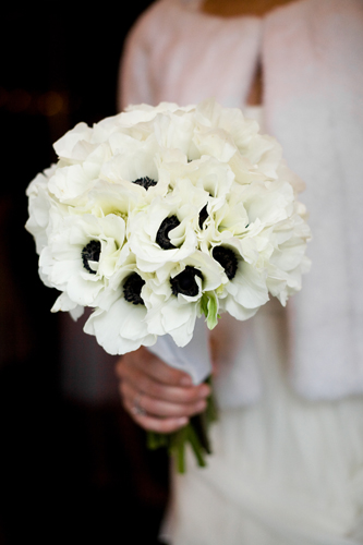 Flowers for a black and white formal wedding anemones would be great for your bouquets mightylinksfo