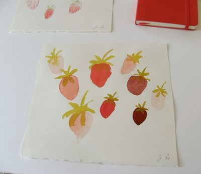 Strawberry painting