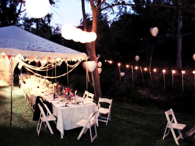Cheri of Scout Holiday pulled off the most magical homemade wedding party