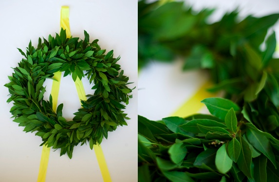 Diy simple christmas wreath 1