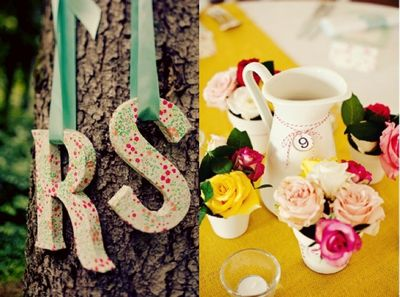 Flowery wedding details
