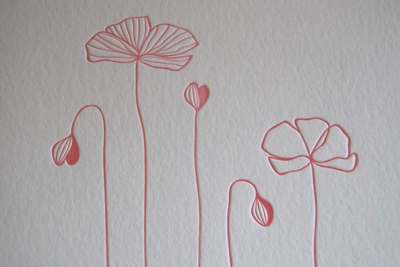 spring blossoms in letterpressfrolic!